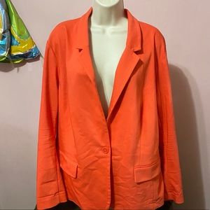 Lane Bryant size 26 orange blazer